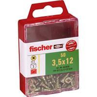 fischer 653928 Verzinkkopschroeven 3.5 mm 12 mm Kruiskop Pozidriv Galvanisch verzinkt 50 stuk(s)