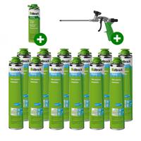 illbruck PU010 Isolatielijm - 750ml met doseerpistool en reiniger (Set van 12 bussen)