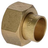 Sanivesk soldeer Recht Overgang 2-delig 15mm x 1/2:F
