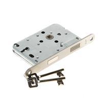 Algemeen Atz Dag- en nachtslot, klavier/sleutelgat 56mm, met magnetisch schoot, rvs voorplaat, doornmaat 50mm, exclusief sluitkom/sluitplaat