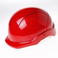 Veiligheidshelm cent korte klep roofer rood