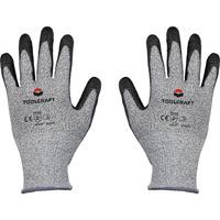 TOOLCRAFT TO-5621604 HPPE-vezel, Polyester, Kunstvezel, Polyurethaan Snijbeschermingshandschoen Maat (handschoen): 8 EN 388 Cat II 1 paar
