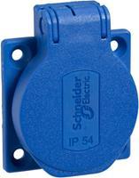 Schneider Electric PKS51B Inbouwcontactdoos IP54, IK08 Blauw