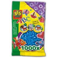 Strijkkralen 1000 stuks Blauw