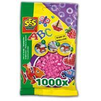 Strijkkralen 1000 stuks Roze