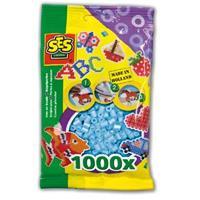 Strijkkralen 1000 stuks Lichtblauw