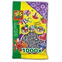 Strijkkralen 1000 stuks Grijs