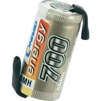 Accucel NiMH 2/3 AA 1.2 V 700 mAh Conrad energy met soldeerlip