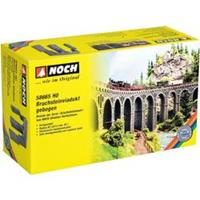 NOCH 58665 H0 natuursteen viaduct, gebogen