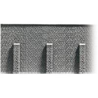 """NOCH 58056 H0 stenen muur met steunberen """"Profi-Plus"""", geverfd"""