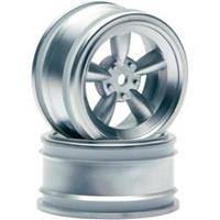 HPI RACING Vintage 5 spoke wheel 26mm matte chrome(0mm offset)