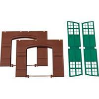 Auhagen 80505 H0 wanden met poorten (groen)