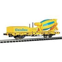 Viessmann 26254 H0 lage boordwagen met cementwagen voor spoorbouw