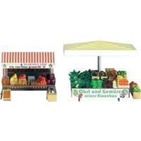 Busch 1071 H0 Marktkraam met fruit, groente en honing