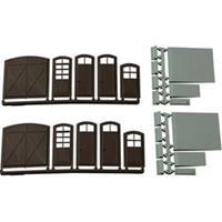 Auhagen 80251 H0 poorten en deuren (bruin), trappen en laadvloeren