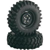 Absima 1:10 Crawler Complete wielen Offroad V Block Crawler Zwart 2 stuks