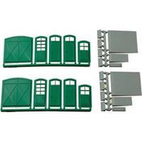 Auhagen 80250 H0 poorten en deuren (groen), trappen en laadvloeren