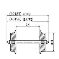 Roco 40196 H0 Roco wielstel wisselstroom, 2 stuks
