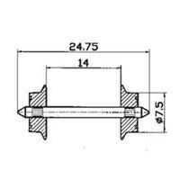 Roco 40184 H0 Roco wielstel wisselstroom 7,5 mm, 2 stuks