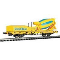 Viessmann 2625 H0 lage boordwagen met cementwagen voor spoorbouw