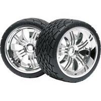 HPI RACING Mounted phaltline tyre 140x70mm on tremor wheel chrome