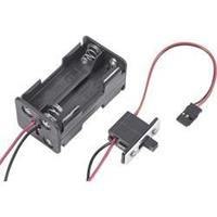 Modelcraft Batterijbox met schakelaar Stekkersysteem: Futaba
