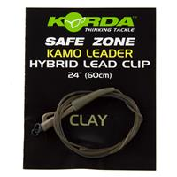 Korda Camo Leaders + Hybrid Leadclip - Clay Brown - 40lb