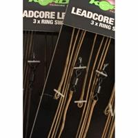 Korda Leadcore Leader Ring Swivel - Weed/Silt