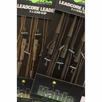 Korda Leadcore Leaders Hybrid Lead Clip Gravel Brown 3 stuks