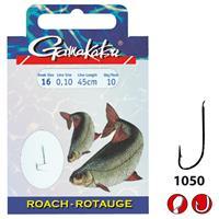 Gamakatsu 1050N Roach - Onderlijn - 45cm - Haakmaat 20 - 10 stuks