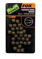 Fox Edges Rubber Flexi Beads - Green