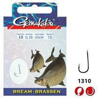 Gamakatsu 1310N Bream - Onderlijn - 45cm - Haakmaat 14 - 10 stuks