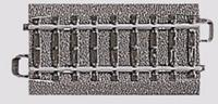 Märklin H0 Marklin C-rails (met ballastbed) 24071 Rechte rails 70.8 mm