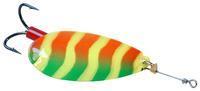 Veltic spinner - 5 cm - geel groen rood