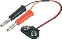 Laadkabel [2x Banaanstekker - 1x 9 V batterij (blok) aansluiting] 250 mm 0.25 mm² Modelcraft