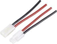 Accu Kabel [ Tamiya-stekker, Tamiya-bus - 2x Open einde] 90 mm 4.0 mm² Modelcraft