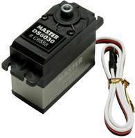 Master Standaard servo DS6030 TG Digitale servo Materiaal (aandrijving): Titanium Stekkersysteem: Uni (Graupner/JR/Futaba)