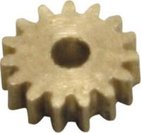 Messing Micro-tandwiel Module 0.2 Z15S Met tandwiel 1 stuks