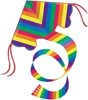 eenlijnskindervlieger Rainbow 97 cm