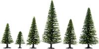 Set bomen Spar Hoogte (min.): 50 mm Hoogte (max.): 140 mm NOCH 26825 Donkergroen 25 stuks