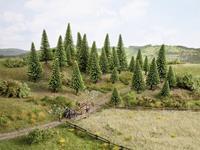 Set bomen Spar Hoogte (min.): 50 mm Hoogte (max.): 140 mm NOCH 26837 1 stuks