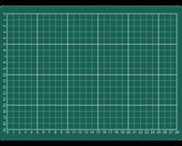 Rillstab Snijmat  A4 300x220mm groen