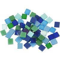 Bellatio Mozaiek tegels kunsthars groen/blauw 5x5