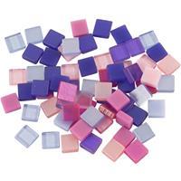 Bellatio Mozaiek tegels kunsthars paars/roze 5x5