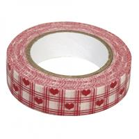 Rayher hobby materialen Washi tape rode hartjes