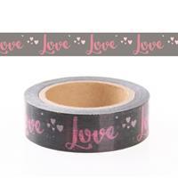 Rayher hobby materialen Washi tape met tekst Love