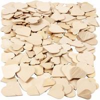 Geen Houten mozaiek hartjes 60 stuks