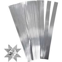 Bellatio 100 Papieren stroken zilver 45 cm