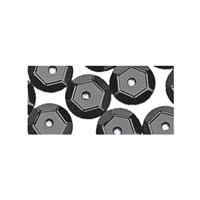 Rayher hobby materialen Pailletten zwart 500 stuks