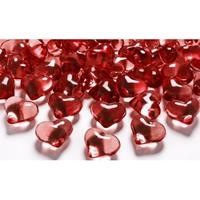 Geen Decoratie hartjes diamantjes rood